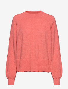 VIHANTA Knitted Pullover - MELANGE PEACH