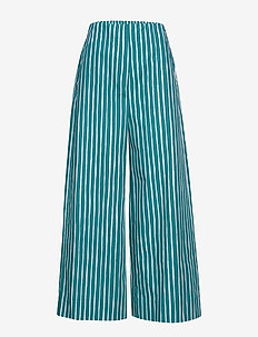 KAVUTA RISTIPICCOLO Trousers - uitlopende broeken - green, turquoise, off-white