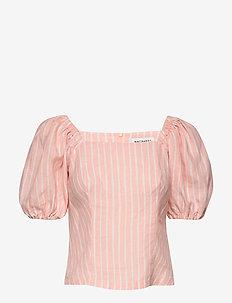 MAHDOTON PICCOLO Shirt - blouses med korte mouwen - peach, off-white