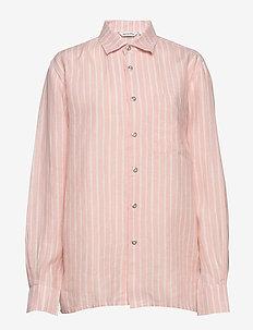 JOKAPOIKA 2017 LINEN Shirt - koszule z długimi rękawami - peach, off-white