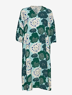 UINUA PIENI PIONI Dress - sukienki do kolan i midi - turquoise, green, dark green