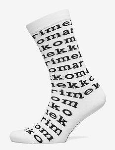 SALLA LOGO Socks - WHITE, BLACK