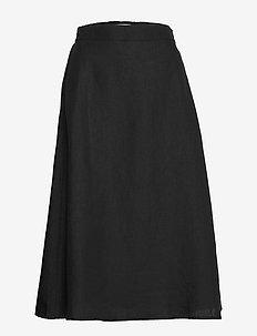 SUODA SOLID Skirt - BLACK