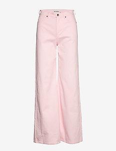 LUOTAUS SOLID TROUSERS - broeken met wijde pijpen - pink