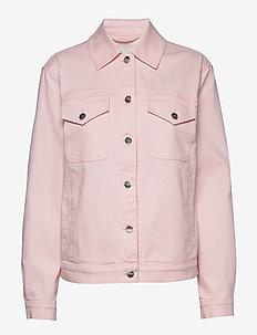 RANTA SOLID JACKET - denim jackets - pink