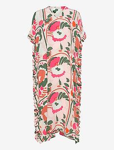 Todellisuus Unikko dress pink, orange, green Dresses