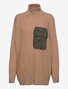 TARPOA PULLOVER - turtlenecks - beige