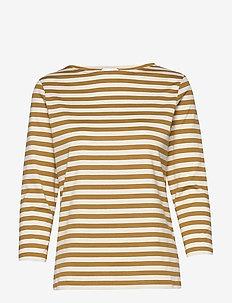 ILMA SHIRT - gestreifte t-shirts - brown, beige