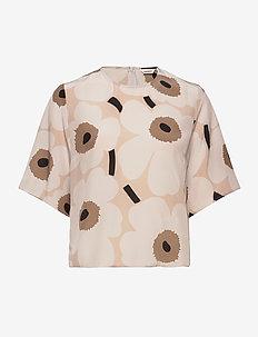 JOKOS PIENI UNIKKO II SHIRT - blouses à manches courtes - beige, brown, black