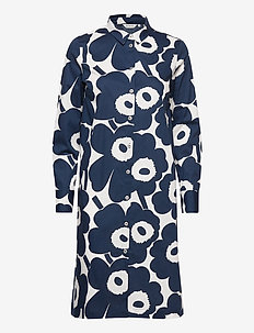 YLVÄS PIENI UNIKKO II DRESS - shirt dresses - off-white, dark blue
