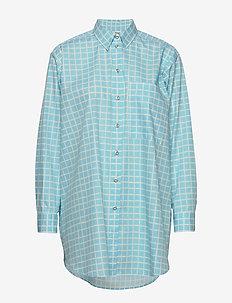 NORKKO PIKKU RUUTU - langærmede skjorter - blue, off-white