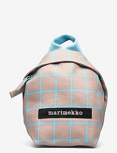 HENTO ISO RUUTU BACKPACK - plecaki - beige, turquoise