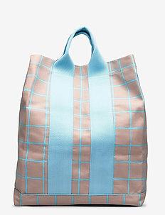 KAINO ISO RUUTU BAG - casual shoppers - beige, turquoise