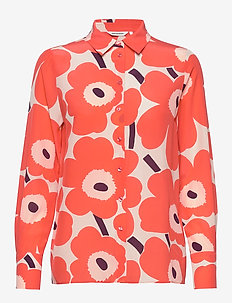 GABRO PIENI UNIKKO Shirt - CORAL, PEACH, OFF-WHITE
