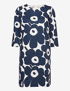 UNELMA PIENI UNIKKO II DRESS - robes midi - off-white, dark blue