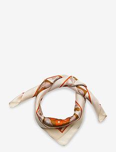 JOSINA VÄLLY SILK SCARF - szaliki i chusty - beige, brown, orange