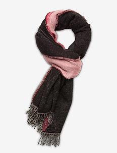 SALINA JACQUARD UNIKKO SCARF - szaliki i chusty - pink, black, beige