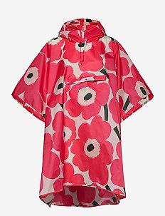 RAIN PONCHO UNIKKO RAIN PONCHO - regntøj - pink, dark green, pink