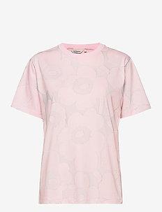 HIEKKA PIENI UNIKKO T-SHIRT - t-shirts - light pink, grey