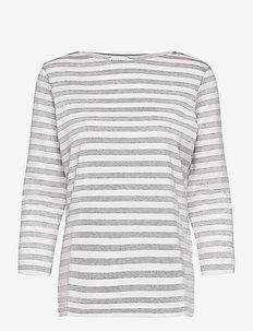 ILMA SHIRT - topy z długimi rękawami - melange grey, off white
