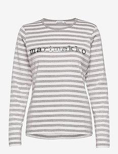 LOGO MARI SHIRT - tops met lange mouwen - melange grey, off white,silver