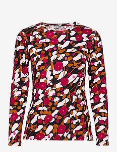 ILOISESTI KESÄHEINÄ T-SHIRT - long-sleeved tops - black, reds, brown