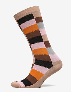 SALLA HIRSI SOCKS - knästrumpor - light beige, multicolored