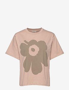 VAIKUTUS UNIKKO T-SHIRT - logo t-shirts - beige, green