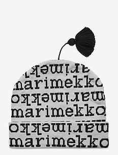 SELVEN LOGO BEANIE - mutsen - white, black