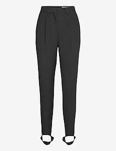 SYÖKSY SOLID TROUSERS - straight leg trousers - black
