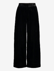 SOHJO SOLID TROUSERS - pantalons larges - black