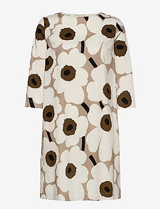 UNELMA PIENI UNIKKO II DRESS - midi dresses - beige, brown, black