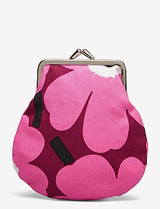 PIENI KUKKARO MINI UNIKKO PURSE - porte-monnaies - dark red,pink,light grey