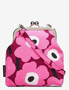 ROOSA MINI UNIKKO PURSE - porte-monnaies - dark red,pink,light grey