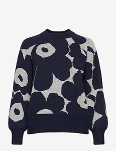 KIETOA UNIKKO KNITTED PULLOVER - swetry - light grey, blue