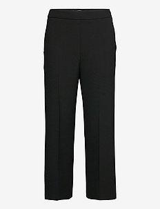 HAKKU SOLID TROUSERS - bukser med lige ben - black