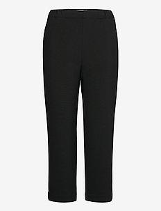 MIETE SOLID TROUSERS - spodnie proste - black
