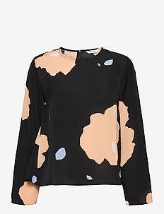 PISTETULO LENNOKKI SHIRT - bluzki z długimi rękawami - black, beige, blue