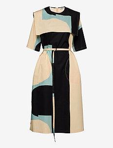 NELIKULMIO KIILA DRESS - sukienki koktajlowe - beige, turquoise, black