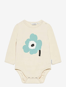 VINDE UNIKKO PLACEMENT BODYSUIT - długie rękawy - beige, light turquoise, black