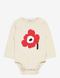 VINDE UNIKKO PLACEMENT BODYSUIT - długie rękawy - beige, orange red, black