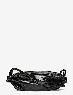 PIKKU KARLA SHINY SHOULDER BAG - axelremsväskor - shiny black