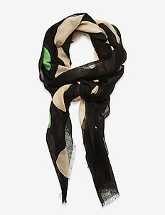 FIORE KEIDAS SCARF - sjaals - black, beige, green