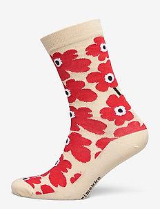 HIETA UNIKKO SOCKS - sokken - beige, orange red, black