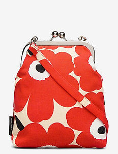 AINIKKI MINI UNIKKO SHOULDER BAG - clutches - beige,red,off white
