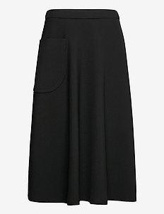 LOUHI SOLID SKIRT - spódnice do kolan i midi - black