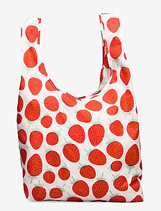 SMARTBAG MANSIKKA - tote bags - off white, red, green