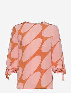 HENNON LINSSI SHIRT - långärmade blusar - coral, pink