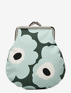 PIENI KUKKARO MINI UNIKKO PURSE - lompakot - dark green,green,off white
