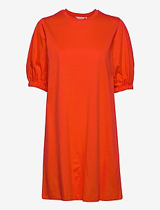 NOUSIN SOLID DRESS - summer dresses - red